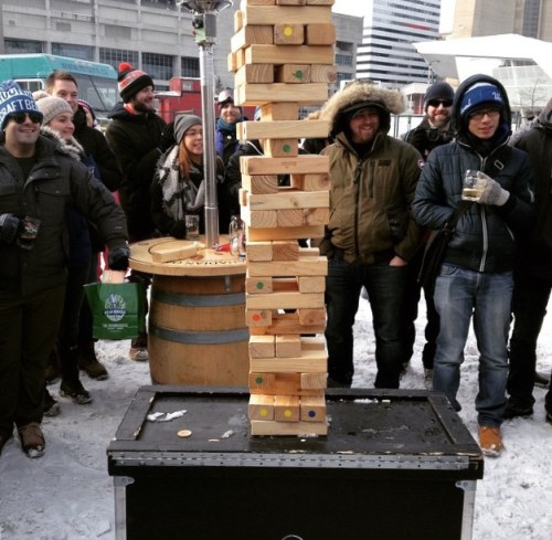 Life-Sized Jenga Game