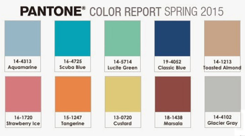 Pantone Colour Report Spring 2015