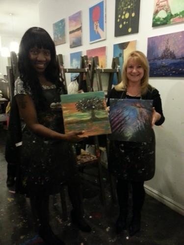 Sharilene Rowland at Paintlounge