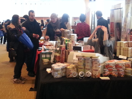 Visitors check out tea products at the Toronto Tea Festival