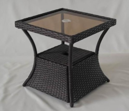Hampton Bay Ally Woven Accent Table at Home Depot, $69