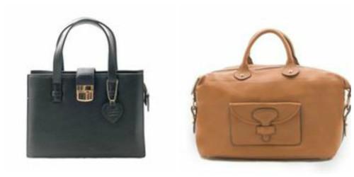 Jeanne Lottie Abby handbag, $90 and Audrey handbag, $120
