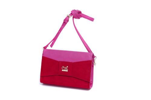 Jeanne Lottie pink and red handbag