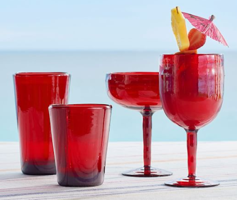 Tulum Acrylic Drinkware, Set of 4, Red, $22-$26 at Pottery Barn