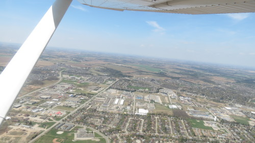 Flight over Caledon