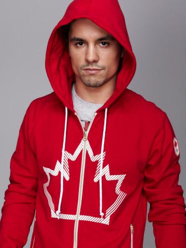 Sergio Pessoa wearing Hudson's Bay Pan Am Games Men's Red Hoodie