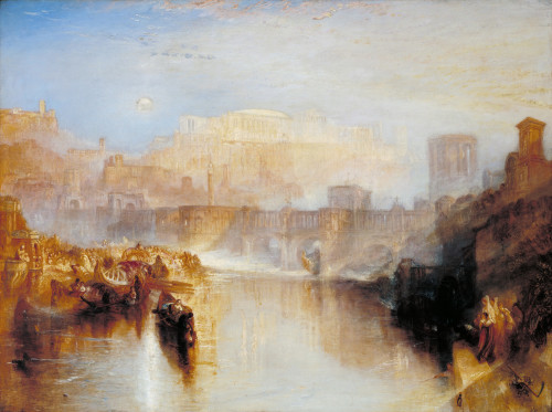 J.M.W. Turner Ancient Rome; Agrippina Landing with the Ashes of Germanicus exhibited 1839 Oil paint on canvas 91.4 x 121.9 cm Tate. Accepted by the nation as part of the Turner Bequest 1856 Courtesy of Tate Photography