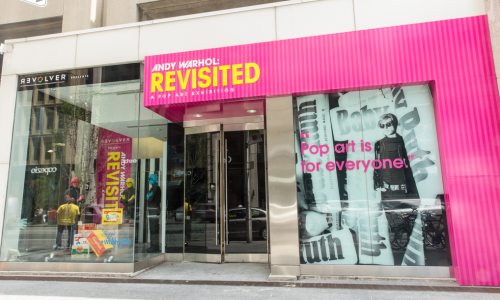 Andy Warhol Revisited exterior. 77 Bloor St. West Toronto. Image by Anthony Cohen