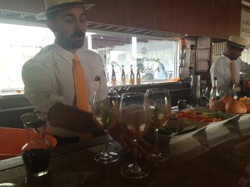 Bartenders serving Veuve Clicquot's RICH
