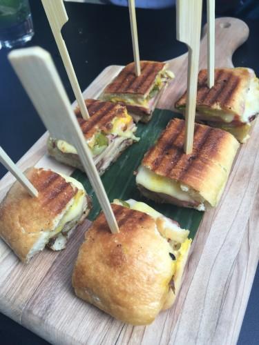 Cubano sandwiches at DEQ Patio