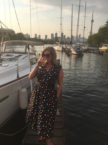 Enjoying a glass of Veuve Clicquot's RICH