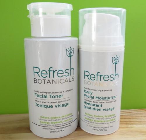 Refresh Botanicals Facial Toner and Daily Facial Moisturizer