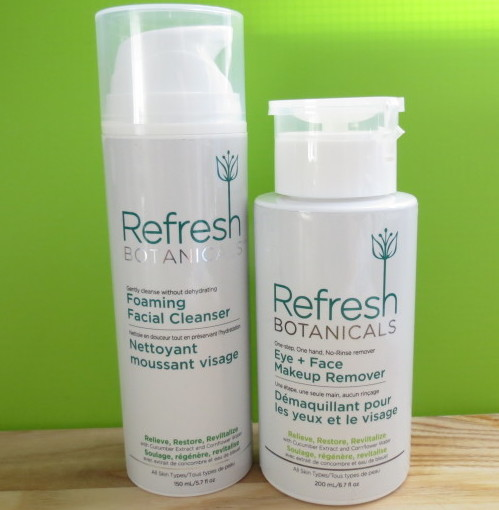 Refresh Botanicals Foaming Facial Cleanser and Eye & Face Makeup Remover