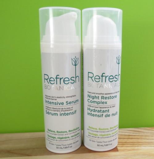 Refresh Botanicals Intensive Serum and Night Restore Complex