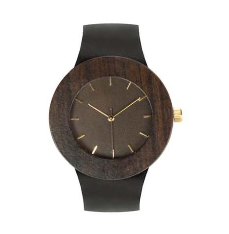 Wooden Watch Leather and Blackwood, $150 from MEtoWE