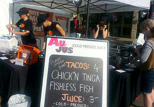 Yam Chops offers Chick*n Tiga and Fishless Fish at Taste of Little Italy