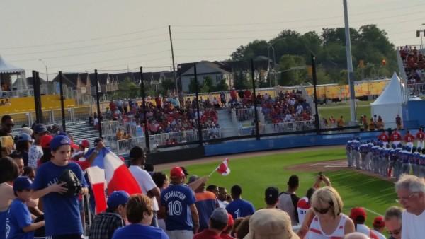 2015 Pan Am Games Baseball Game between Canada vs Dominican Republic