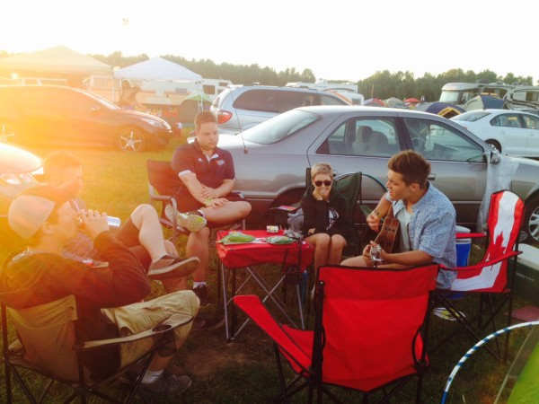 Campsite all set up at Wayhome Music and Arts Festival