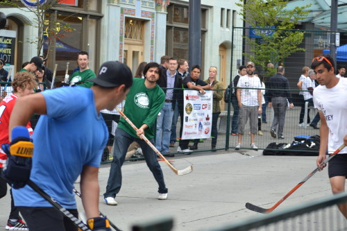 Five Hole For Food street hockey event