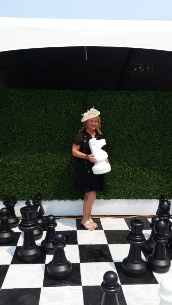 I become a chess piece at the Hats & Horseshoes Party