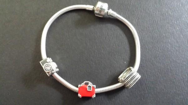 Sterling Silver Charm Bracelet from Soufeel