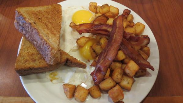 Breakfast special at Falls Manor Restaurant, $5.49