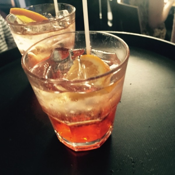 Coco Lezzone's signature drink with Prosecco and Aperol