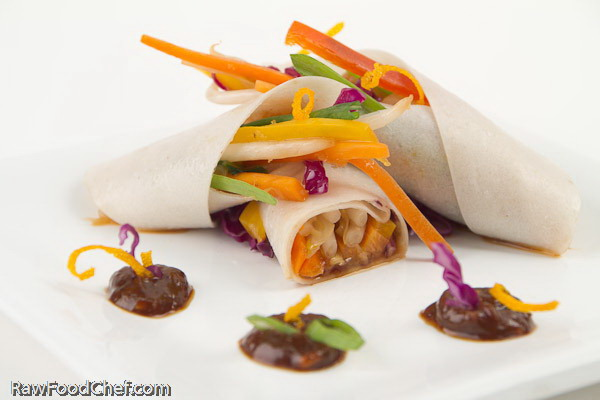 Fresh Coconut Wraps with Tamarind Sauce at Coconut Festival
