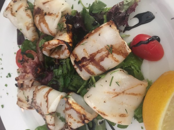 Grilled calamari at Coco Lezzone