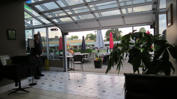 Open air roof at The Kasbah Mediterranean Qsine in Niagara Falls