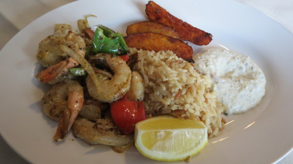 Shrimp Shish Kabob at The Kasbah Mediterranean Qsine, $20