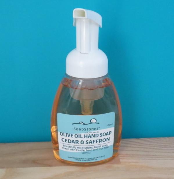 SoapStones Olive Oil Hand Soap in Cedar & Saffron