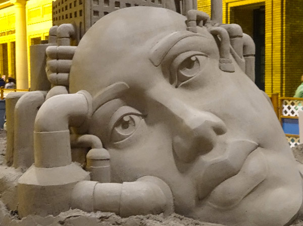 Face Sand Sculpture at the CNE