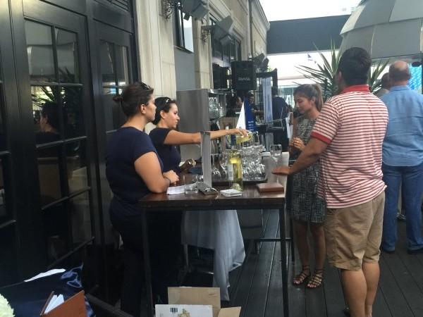 Guests enjoy Nobilo Sauvignon Blanc