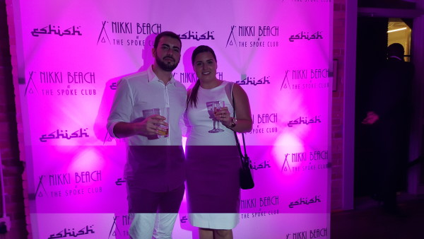 My guy and I at the Nikki Beach event at the Spoke Club