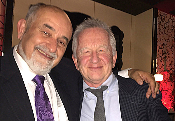 My cheery gala partner, Fred, mingled with Comedian Ron James at The True North Gala