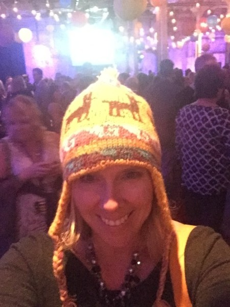 I try on a toque at Ignite the Night