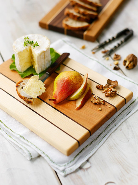 Maple, Cherry and Walnut Serving Board by EmersonPringle, $65 CAD