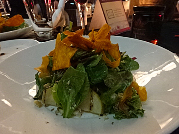 Mixed Organic Greens, Chevre and Pear Salad at The True North Gala