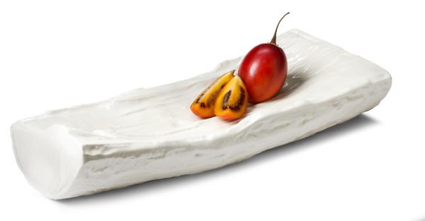 Ceramic log platter $125 by Marianne Chenard, Marianne Chenard