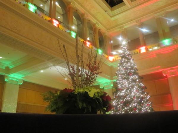 Christmas tree in lobby of King Edward Hotel, Toronto