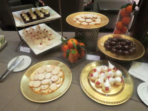 Desserts at Holiday tree lighting party at Omni King Edward Hotel