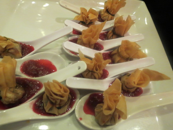 Peking Duck hors d'oeuvres at King Edward Hotel Tree lighting party