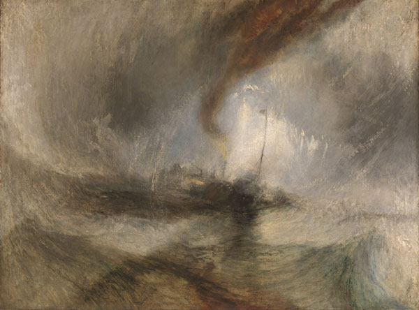 Snow-Storm Steam-Boat off a Harbour's Mouth by J.M.W. Turner at the AGO