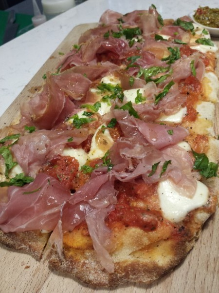 Prosciutto Pizza at Bugigattolo Kitchen, Toronto