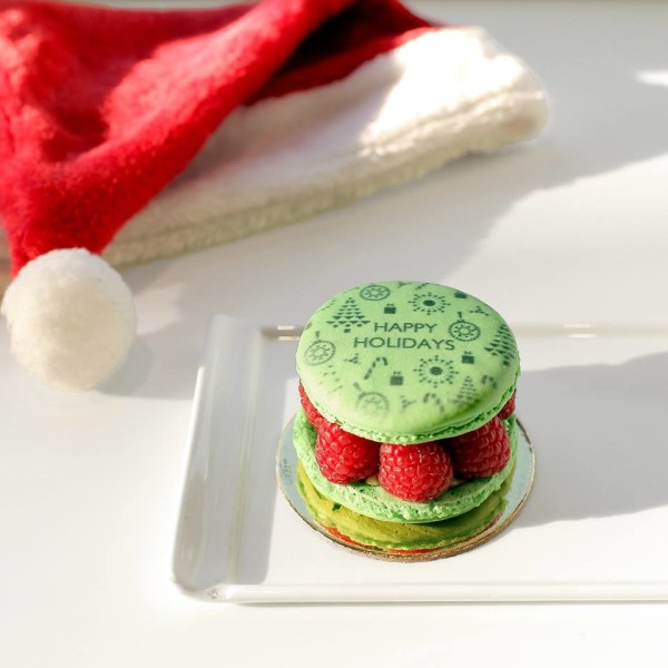 The Grinch Macaron Cake from Nadege Patisserie