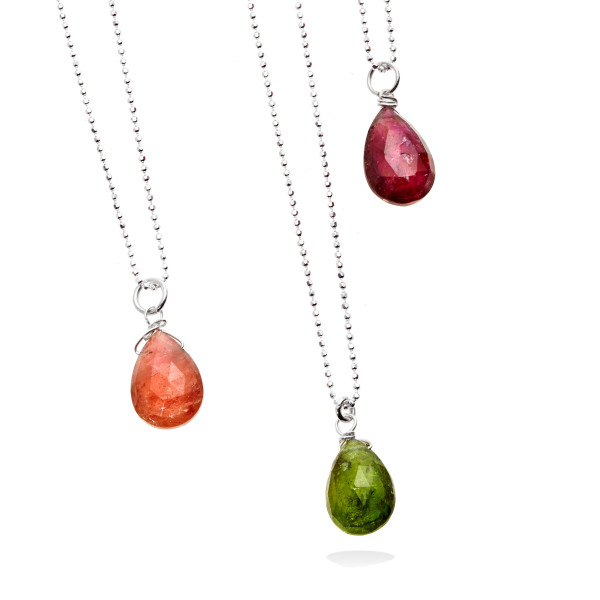 Halo Tourmaline Necklace in Silver from Erin Tracy make great Valentine's Day luxury gifts for women