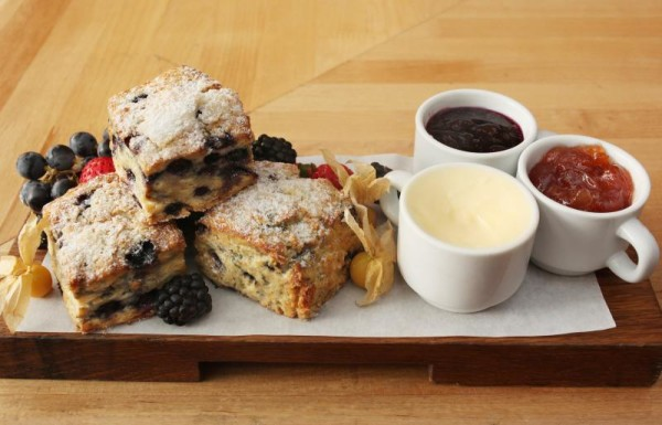 Blueberry Scones at The Drake, $11