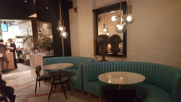 Dining area at Ufficio Restaurant in Toronto