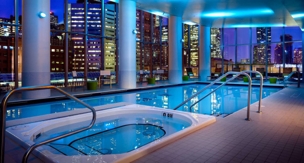 Indoor swimming pool at Delta Toronto Hotel